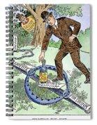 Cartoon: Temperance, C1915 Spiral Notebook