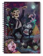 Cartoon Zombie Party Spiral Notebook