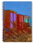 Cartoonised Beach Huts Spiral Notebook
