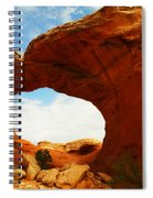 Carved By The Winds Of Time Spiral Notebook