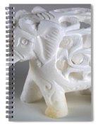 Carved Elephant Spiral Notebook