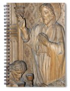 Carved In Wood Spiral Notebook