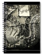 Carved Naga At Banteay Srey Spiral Notebook