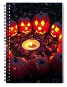 Carved Pumpkins With Pumpkin Pie Spiral Notebook