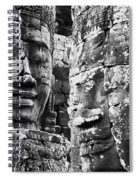 Carved Stone Faces In The Khmer Temple Spiral Notebook