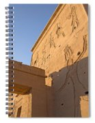 Carved Wall Of The Temple  Philae  Spiral Notebook