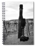 Carved Wine Bottle And Wine Glass Spiral Notebook