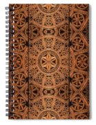 Carved Wooden Cabinet Symmetry Spiral Notebook