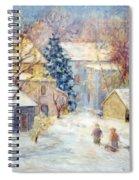 Carversville Snow Spiral Notebook
