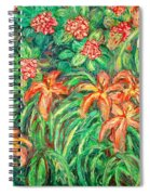 Cascading Day Lilies Spiral Notebook