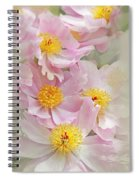 Cascading Pink Peony Flowers Spiral Notebook