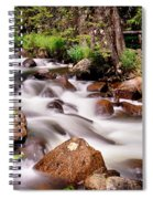 Cascading Rocky Mountain Forest Creek Spiral Notebook