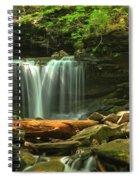 Cascading Through Glen Leigh Spiral Notebook