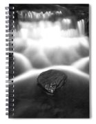 Cascading Waterfall Black And White Spiral Notebook