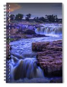 Cascading Waterfalls At Sunset Spiral Notebook