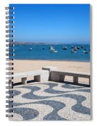 Cascais Promenade And Bay In Portugal Spiral Notebook
