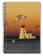 Cascumpec Lighthouse On Prince Edward Island Spiral Notebook
