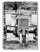 Case Tractor - Bw Spiral Notebook