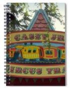 Casey Jr Circus Train Fantasyland Signage Disneyland Spiral Notebook