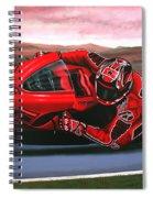 Casey Stoner On Ducati Spiral Notebook