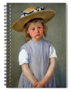 Cassatt's Child In A Straw Hat Spiral Notebook