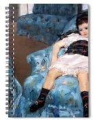 Cassatt's Little Girl In A Blue Armchair Spiral Notebook