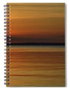 Cast Away - Young Child Fishing From A Pier On The Indian River Bay As The Sun Sets Across The Water Spiral Notebook