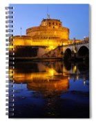 Castel Sant'angelo And The Tiber River Spiral Notebook