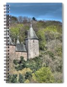 Castell Coch Cardiff Painterly Spiral Notebook