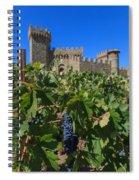 Ripe On The Vine Castelle Di Amorosa Spiral Notebook