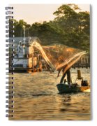 Casting From Boat Spiral Notebook