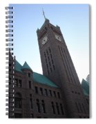 Castle And Clock Tower Spiral Notebook