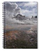 Castle Geyser In Winter Spiral Notebook