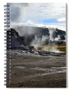 Castle Geyser In Yellowstone National Park Spiral Notebook