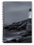 Castle Hill Lighthouse Bw Spiral Notebook