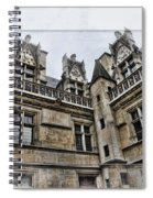 Castle In The Clouds Paris France Spiral Notebook