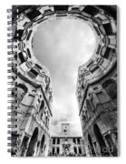 Castle Keyhole In Black And White Spiral Notebook
