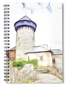 castle of the holy order - Sovinec castle Spiral Notebook