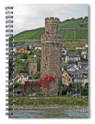 Castle Of The Rhine Spiral Notebook