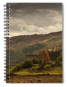 Castle On A Hill Kyle Of Lochalsh Spiral Notebook