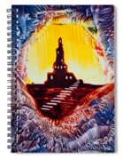 Castle Rock Silhouette Painting In Wax Spiral Notebook
