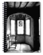 Castle Room With Chair Bw Spiral Notebook