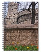 Castle With Poppies Spiral Notebook