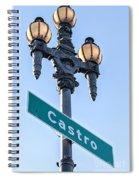 Castro Lightpole Spiral Notebook