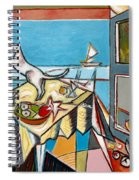 Cat And Sailboat Spiral Notebook