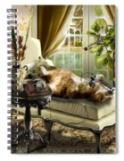 Funny Pet Talking On The Phone  Spiral Notebook