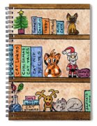 Cat Chrismas Shelves Spiral Notebook