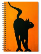 Cat Dance In Orange Spiral Notebook