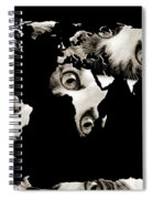 Cat Eyes World Map Spiral Notebook