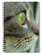 Cat Face Profile Spiral Notebook
